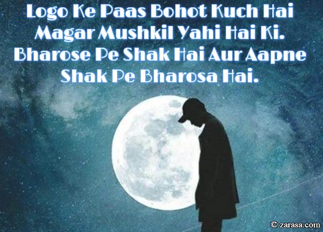 """SHAYARI FOR BHAROSA """"Aapne Shak Pe Bharosa Hai"""""""