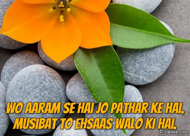 """Patthar Shayari """"Jo Pathar Ke Hai"""""""