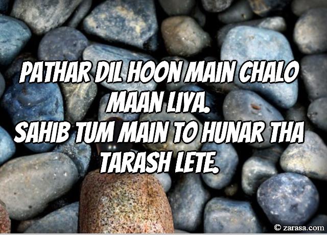 """Patthar Shayari """"Pathar Dil Hoon Main"""""""
