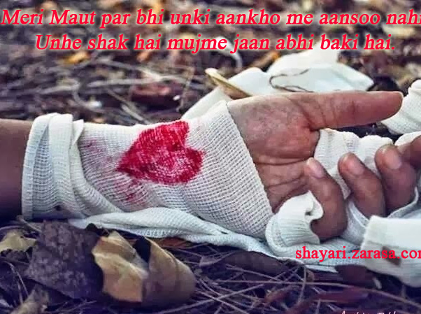 """Shayari for Husband """"मेरी मौत पर भी उनकी आँखों में आंसू नहीं"""""""