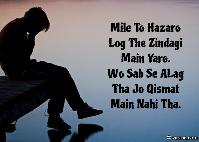 "Naseeb Shayari ""Mile To Hazaro Log"""