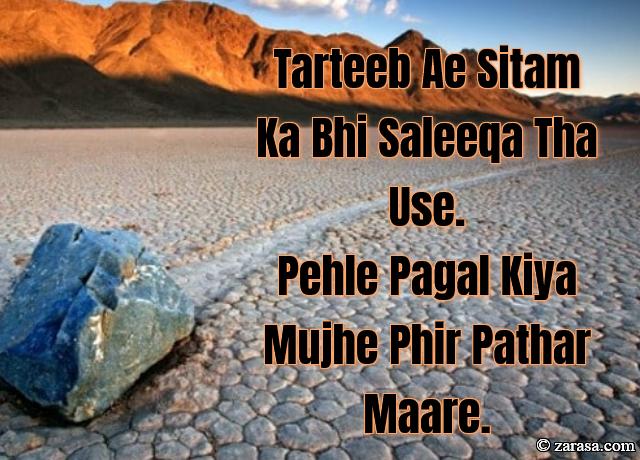 """Patthar Shayari """"Phir Pathar Maare"""""""