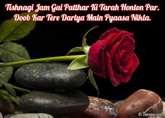 """Patthar Shayari """"Tishnagi Jam Gai Patthar Ki Tarah"""""""