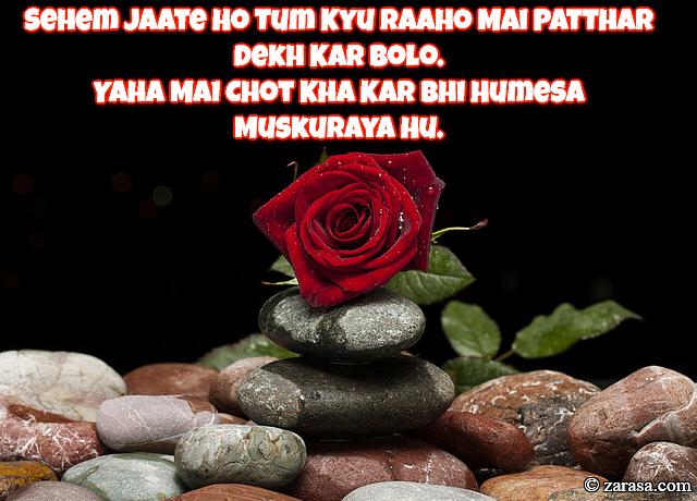 """Patthar Shayari """"Raaho Mai Patthar Dekh Kar"""""""