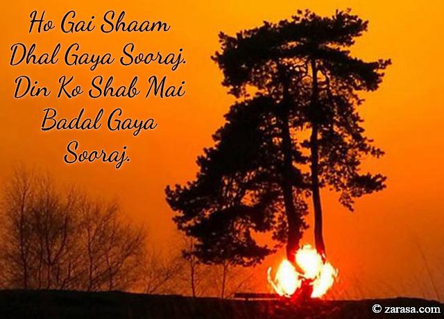 """Suraj Shayari """" Din Ko Shab Mai Badal Gaya Sooraj"""""""