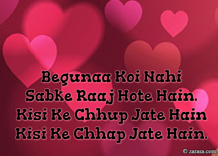 "Shayari for Old peoples ""Begunaah Koi Nahi"""