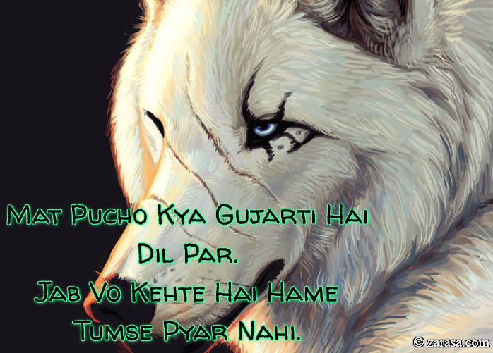 "Shayari For Zakhm ""Mat Pucho"""