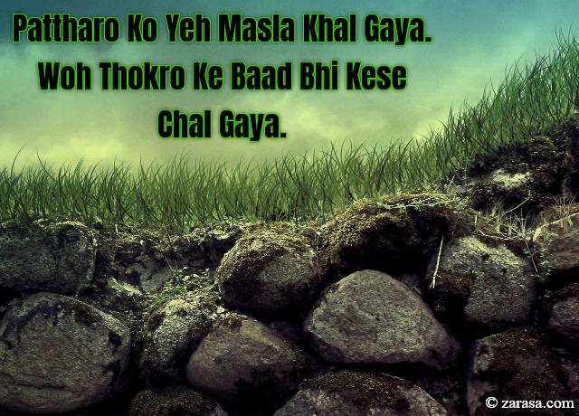 "Patthar Shayari ""Pattharo Ko Yeh Masla Khal Gaya"""