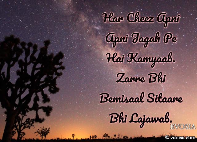 """Sitare Shayari """"Sitaare Bhi Lajawab"""""""
