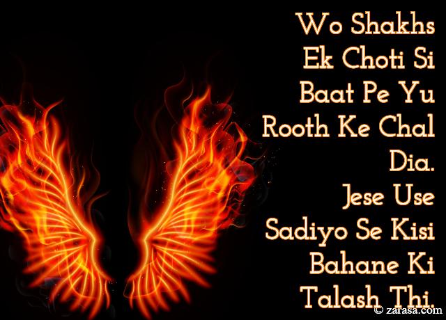 """Talaash Shayari """"Bahane Ki Talash Thi"""""""